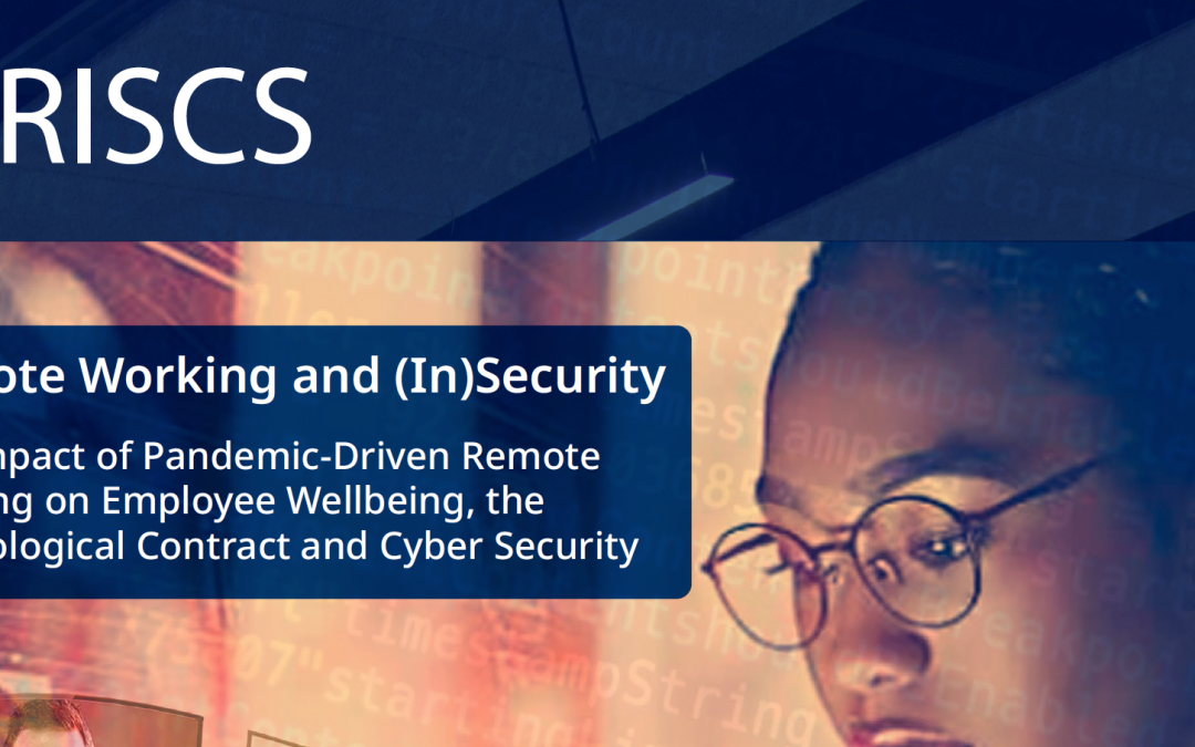 New publication: Remote Working and (In)Security